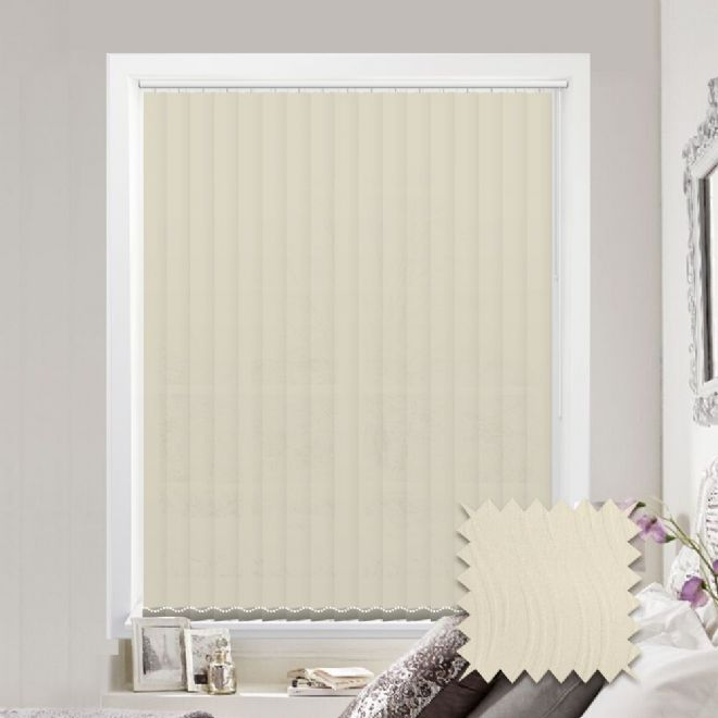 Senna Wavy Cream Vertical Blinds - Made to Measure vertical blind in Cream - Just Blinds
